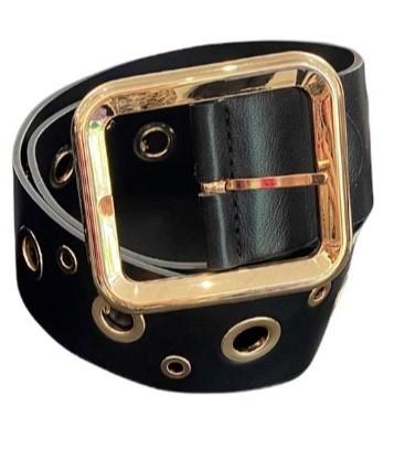 Gold Eyelet Belt