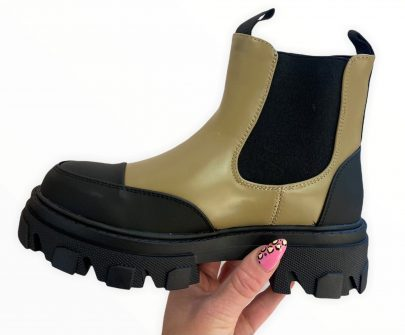 Olive Chelsea Boot1