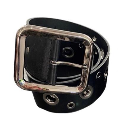 Silver Eyelet Belt